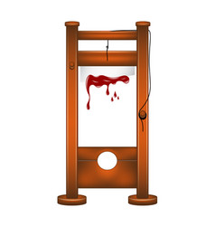 Guillotine with bloody blade vector