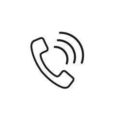 handset online icon vector image