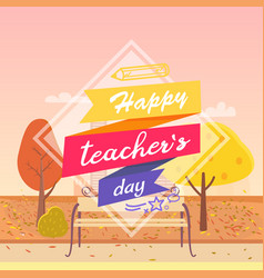 Happy teachers day decorated vector