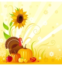 Happy Thanksgiving autumn food background vector