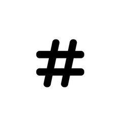 hashtag flat icon vector image