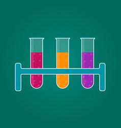 hemistry icon liquid in laboratory test tubes vector image