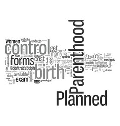 How to get birth control through planned vector