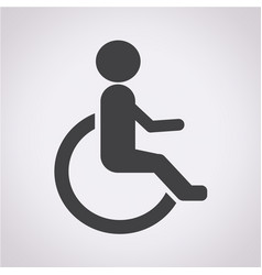 Human on wheelchair disabled icon vector