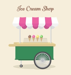 Ice cream shop vector