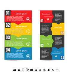 Infographic color set with symbol in black color vector