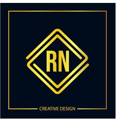 Initial letter rn logo template design vector