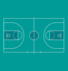 Isolated basketball field for ball game vector