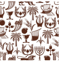 israel jewish culture seamless pattern vector image