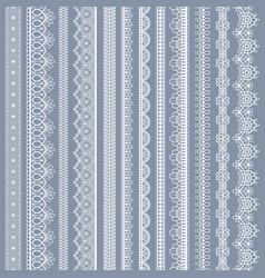 lace seamless borders vintage ornamental vector image