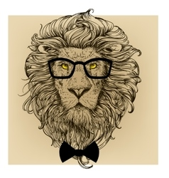 Lion character portrait vector