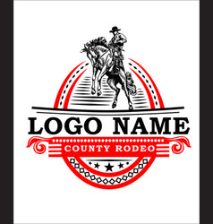 Logo for sport rodeo vector