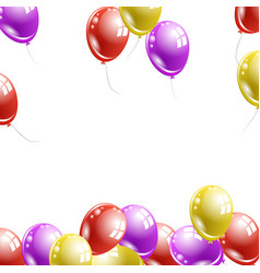 many multi-colored balloons fly upwards vector image