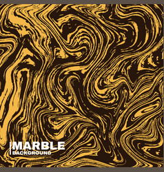 Marble texture background deep yellow and fluid vector