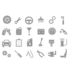 Mechanic gray icons set vector