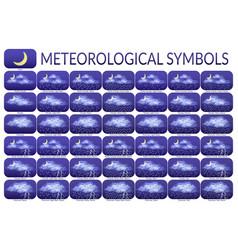 Meteorological symbols set vector