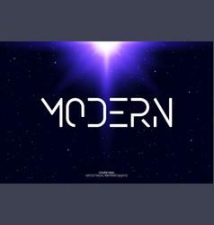minimal modern alphabet minimalist letters vector image
