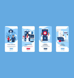 mobile application medical service smartphone vector image