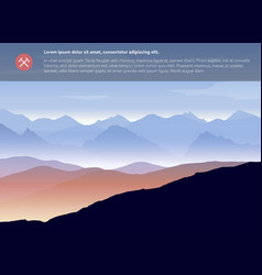 Mountains landscape template vector