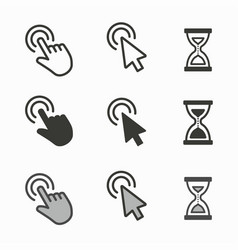 Mouse cursor icons for graphic and web design vector