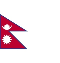 Nepal flag image vector image