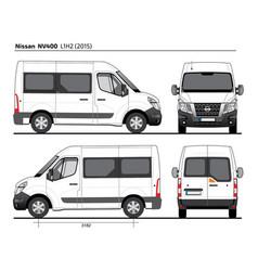 Nissan nv400 passenger van l1h2 2015 vector