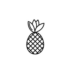 pineapple minimal sign design vector image