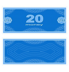 Play money Twenty vector image