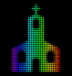 Rainbow colored dot christian church icon vector