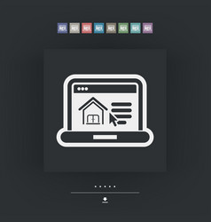 Real estate website icon vector