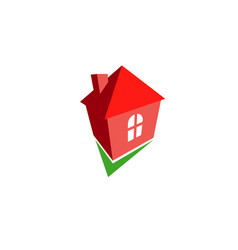 right home logo vector image