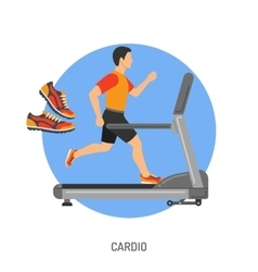 Runner on Treadmill Concept vector image