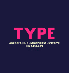 sans serif font in classic style vector image