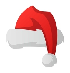 santa christmas hat royalty free vector image vectorstock rh vectorstock com christmas hat vector png christmas hat vector icon