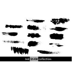 set of ink spots vector image