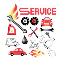set service cars vector image