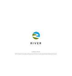 simple minimalist creek river or winding road vector image