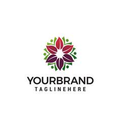 Spa cosmetic flower logo for beauty salon logo vector