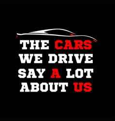 Sport cars quote vector