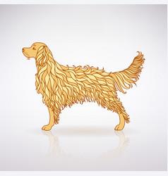 stylized yellow dog vector image