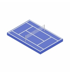 Tennis court icon isometric 3d style vector