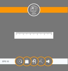 the ruler icon vector image