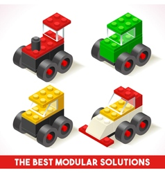 Toy Block Cars 01 Games Isometric vector image