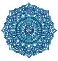 turquoise ornamental mandala vector image