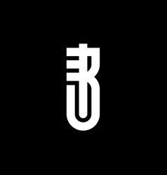 ur or ru - logotype monogram with letters r and u vector image