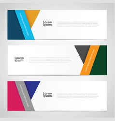 Web banner template vector
