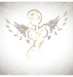 Winged girl vector image