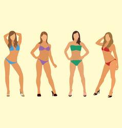 women in bikinis vector image