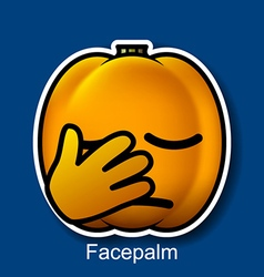 Facepalm vector image vector image