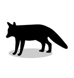 fox wildlife black silhouette animal vector image vector image